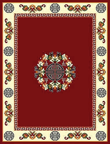 Floral Traditional Persian Design Burgundy  $99.9