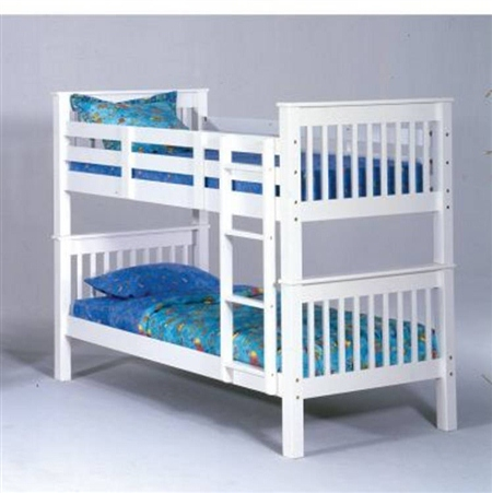 3 inch  Post Bunk Bed - White Finish - Bolt Thru (d) $309.9