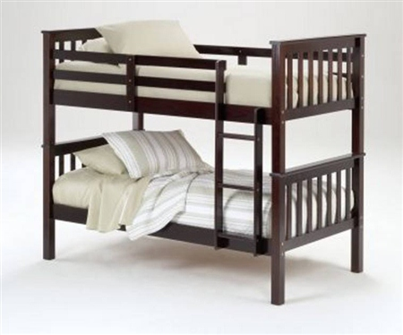 3 inch  Post Bunk Bed - Merlot Finish - Bolt Thru (e) $309.9