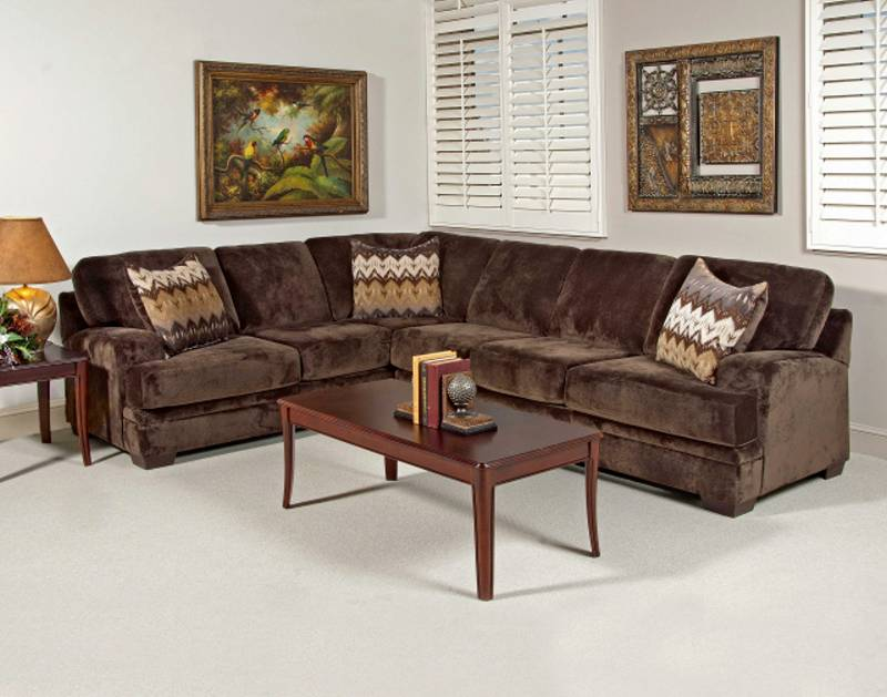 Olympian Chocolate ~ Stationary Sectional  $959.9