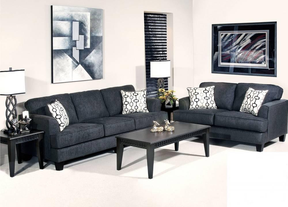 5600 Ebony Sofa and Loveseat $790