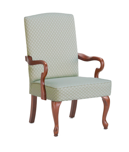 Crystal Gooseneck Arm Chair Beige by Comfort Pointe $232