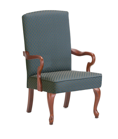 Crystal Gooseneck Arm Chair Blue by Comfort Pointe $232