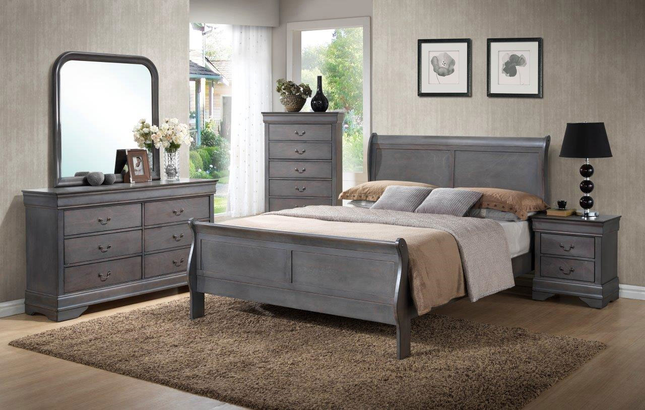 BR4934 Driftwood Gray Louis Philippe Bedroom~ King $1059.9
