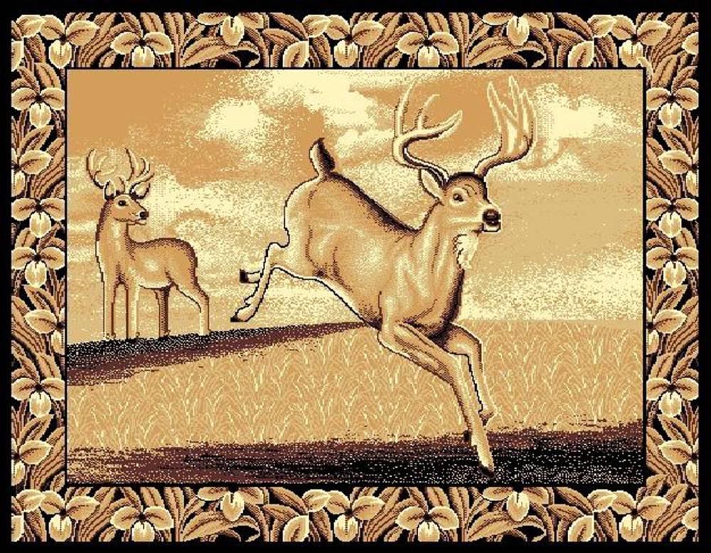 Deer Jumping Area Rug $59.9
