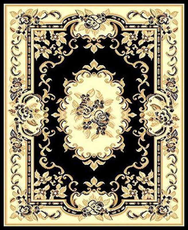 RT117 Taj Mahal #117 Area Rug (6' x 8') Black $59.9