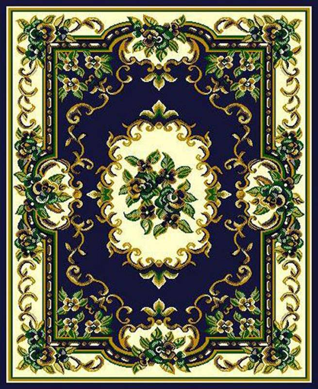 RT117 Taj Mahal #117 Area Rug (6' x 8') Navy $59.9