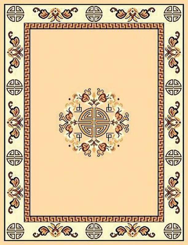 RT119 Taj Mahal Area Rug (6' x 8') Berber $59.9
