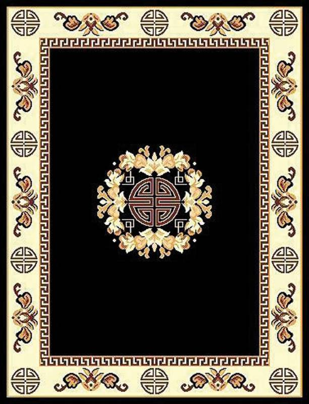 RT119 Tajmahal Area Rug (8' x 11') Black $79.9