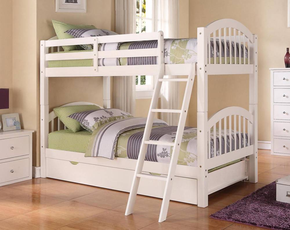 Twin/Twin Stackable Wood Bunkbed ~ White $298.9