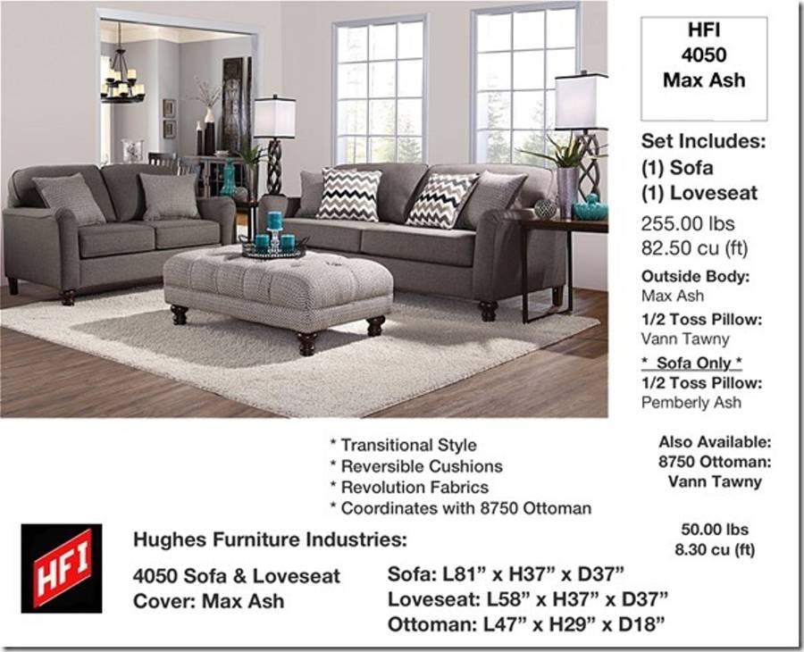 4050 Sofa and Loveseat - Max Ash $795.9