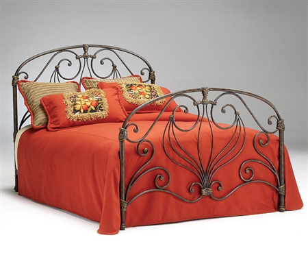 Athena Verdi Metal Bed Set - Queen $360