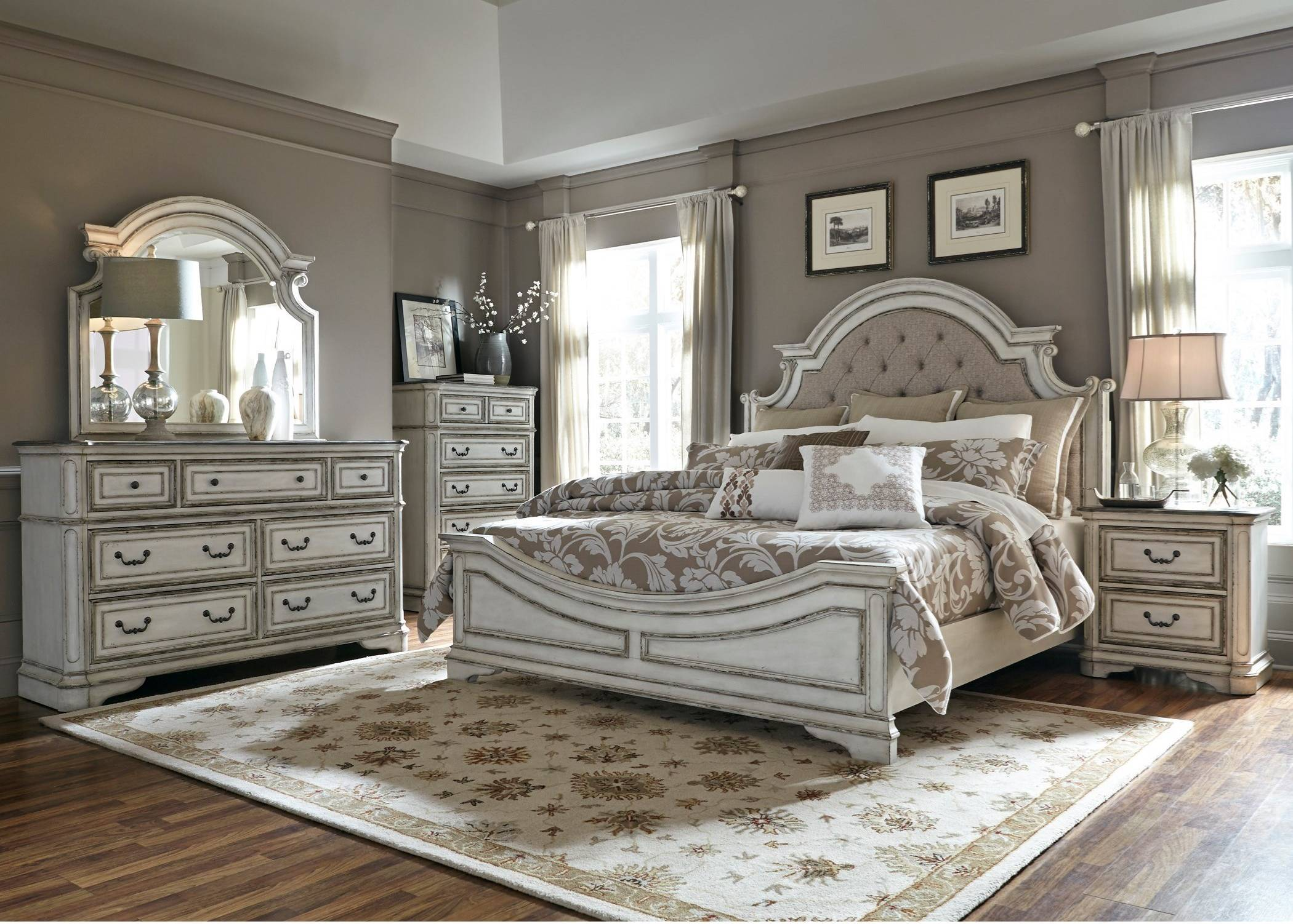 Magnolia Manor King Upholstered Bed Set - King $2099