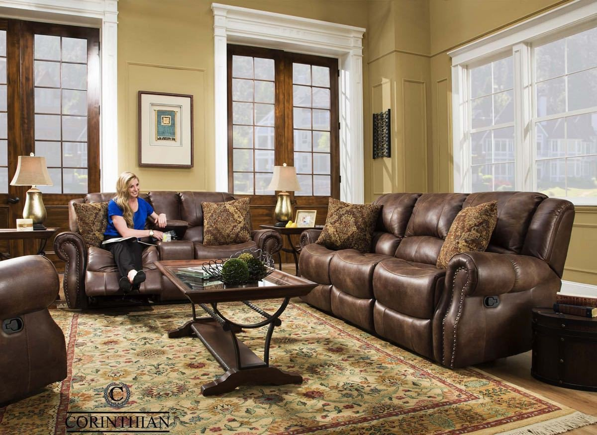 Waylon Mocha Glider Reclining Sofa and Loveseat $1009