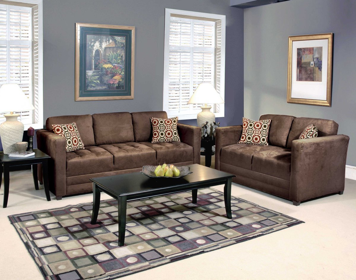 1085 Serta Upholstery Sienna Chocolate Sofa & LoveSeat $625