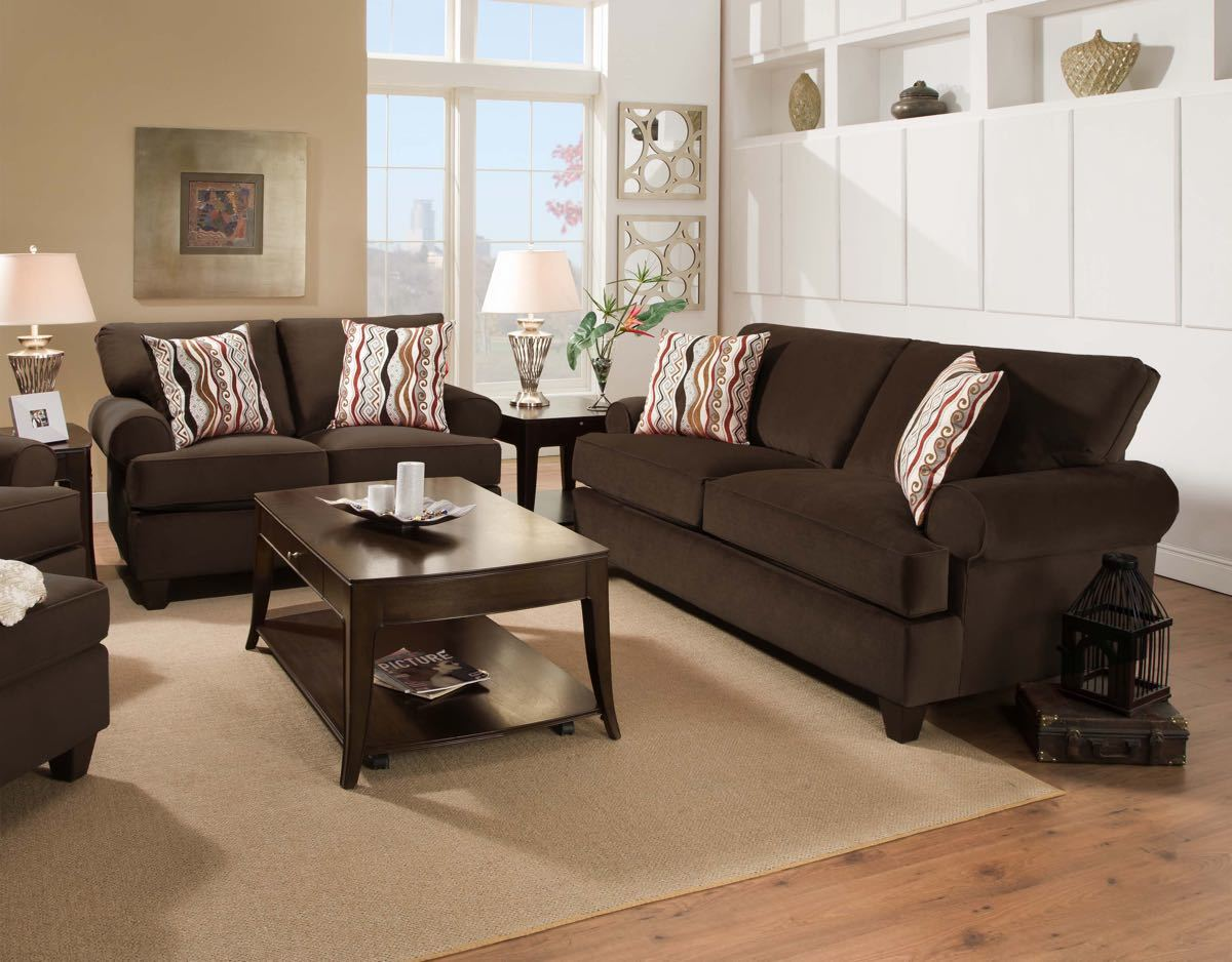 47 Sofa and Loveseat -JACKPOT CHOCOLATE $859