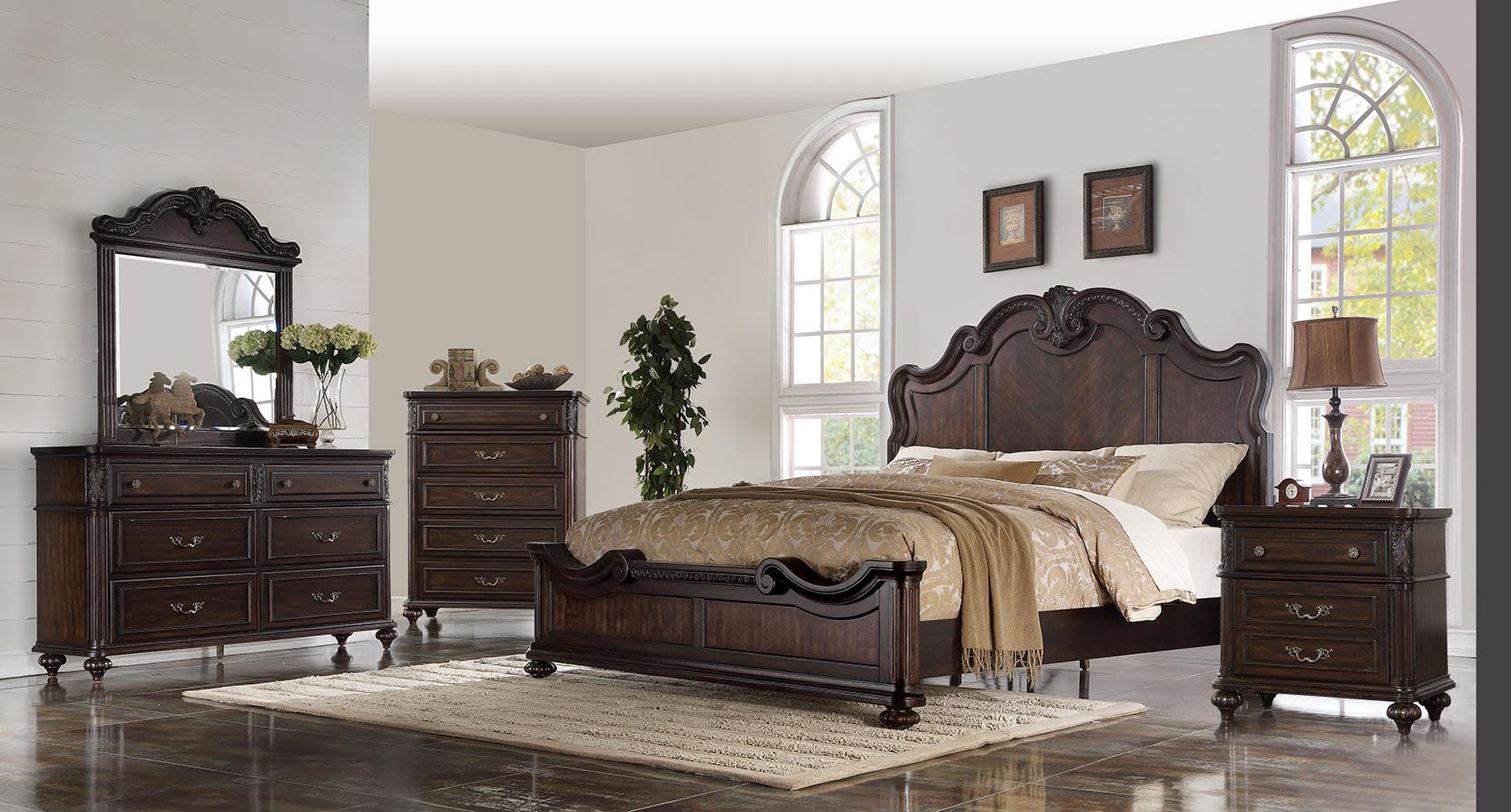 1610 Nottingham King 6 Piece Bedroom Set  $1795