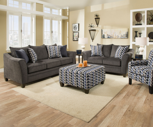 6485 Albany Slate Sofa and Loveseat By Simmons $859