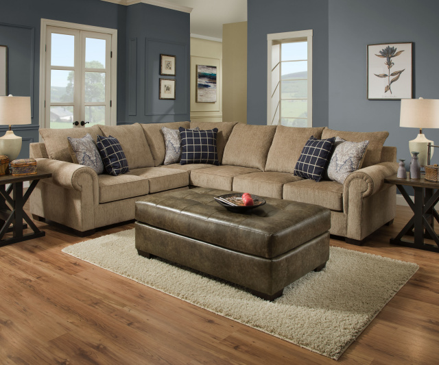 7592 Beautyrest 2 Piece Sectional in Gavin Mushroom $959
