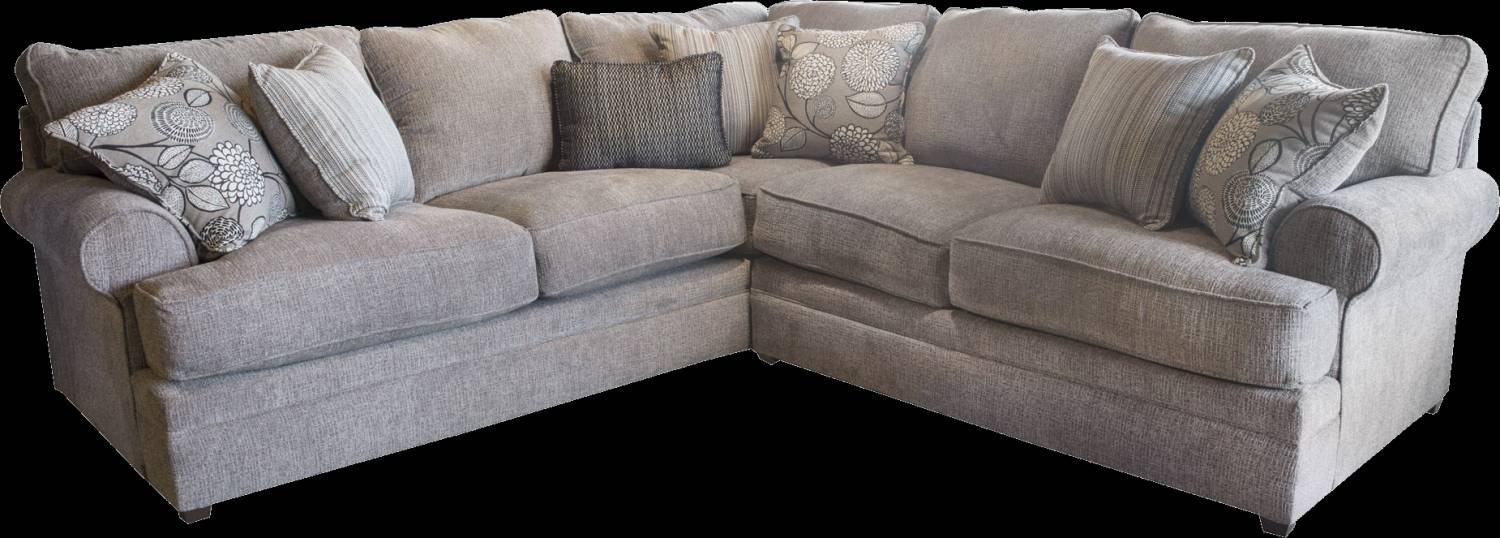8530 Beautyrest Sectional in Macey Pewter $959