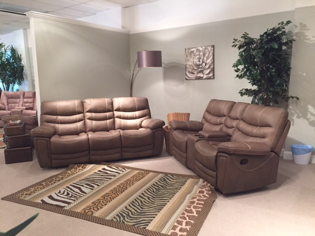 2038 Motion Sofa and Console Loveseat and Rocker Recliner $1259