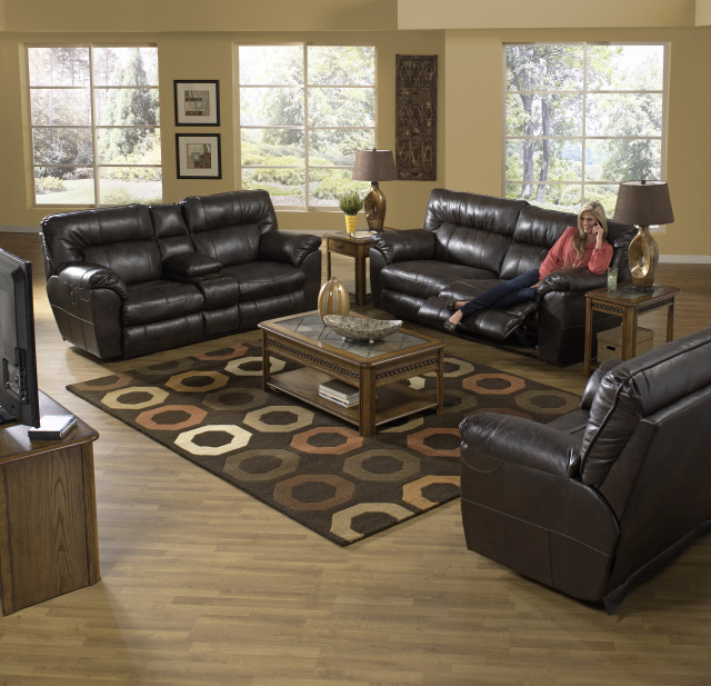 4041 Nolan Motion Sofa and Motion Console Loveseat, Wallhugger $1195