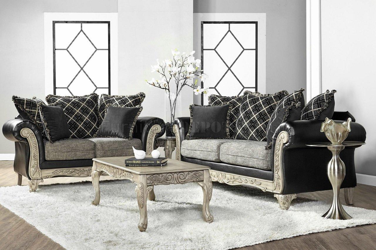 7925 Sofa & Loveseat: San Marino Ebony $825