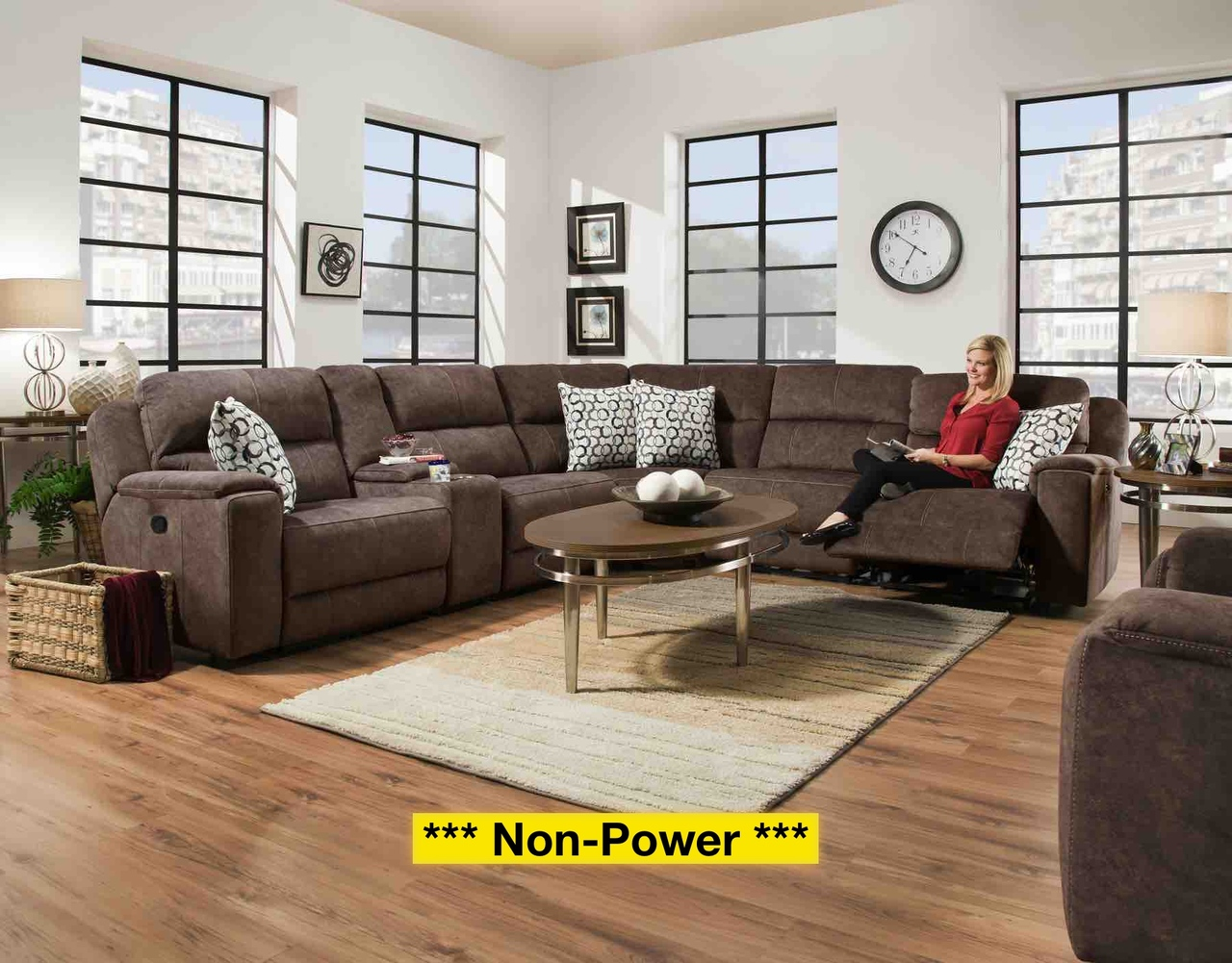 79001 6-Piece Sectional: Imprint Cocoa $1499