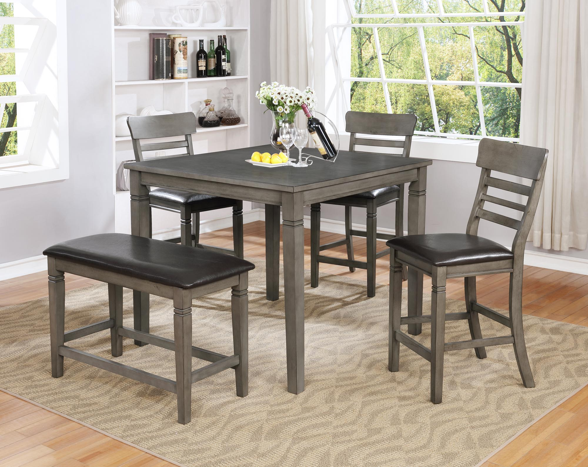 1744 Parker Grey 5 Piece Pub Dinette Set $479.99
