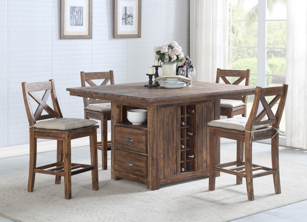 0526 Kitchen Island Table and 4 Gathering Chairs $1095.99