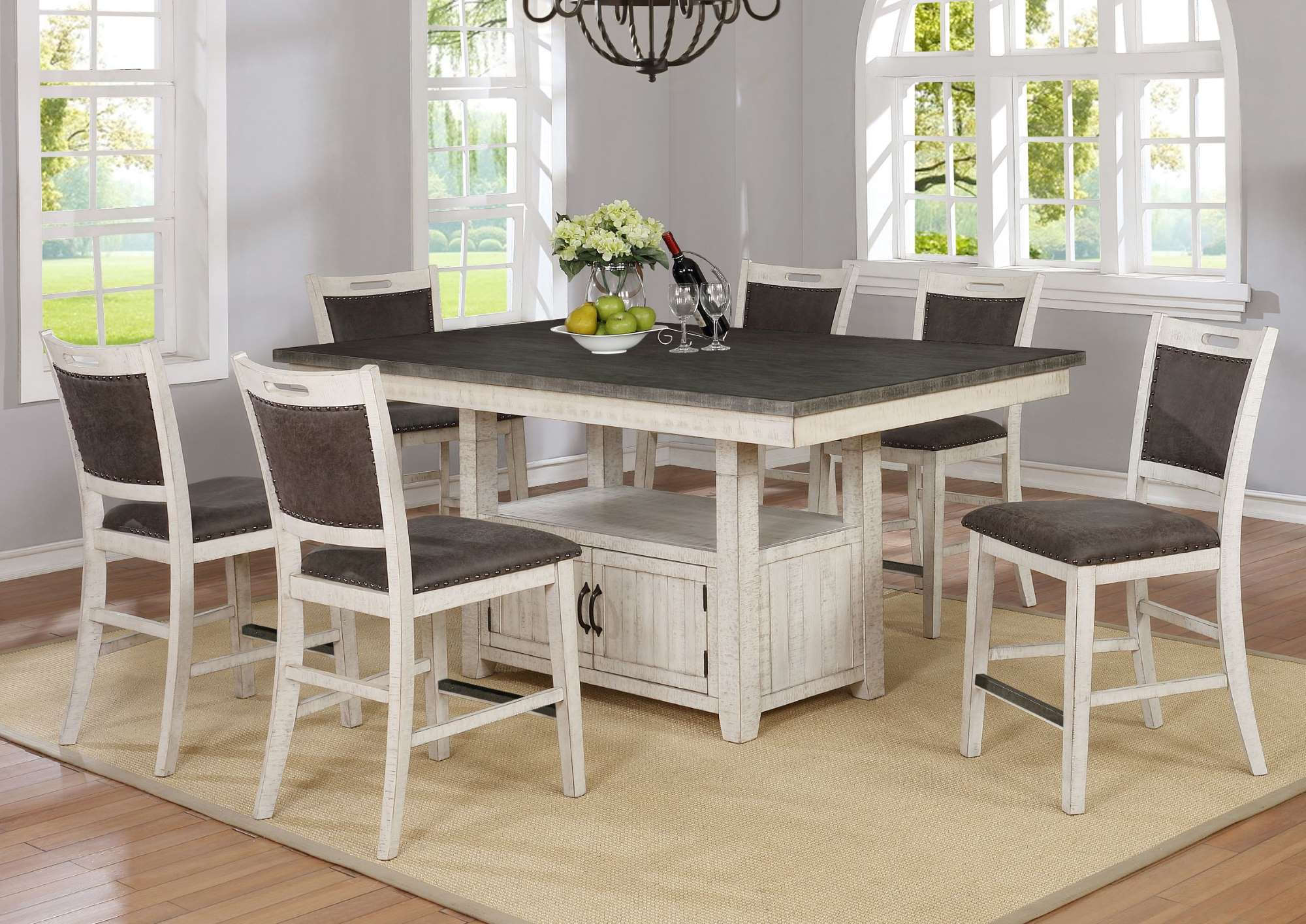 1852 Jonah Counter Height Tables Table & 6 Stools $979.99