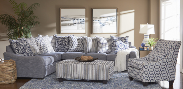 1903 2Pc Sectional in Tangiers Navy Set $989.99