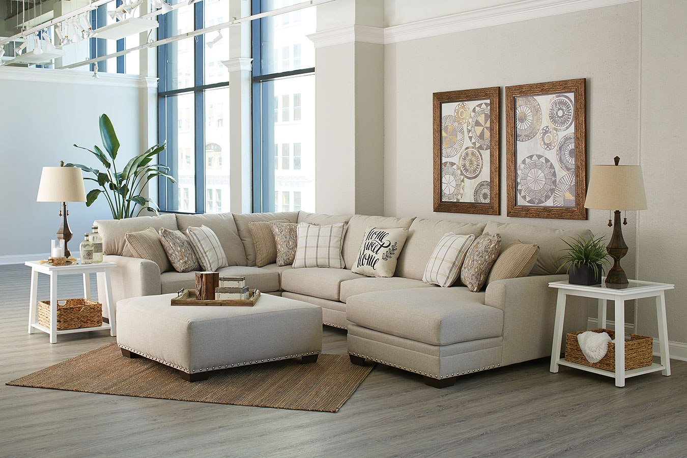 4478 Middleton Farmhouse Casual 3 piece Sectional $1529.99