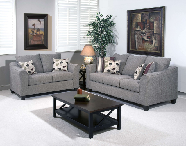 1225 Sofa and Loveseat in Flyer Metal, $989.99