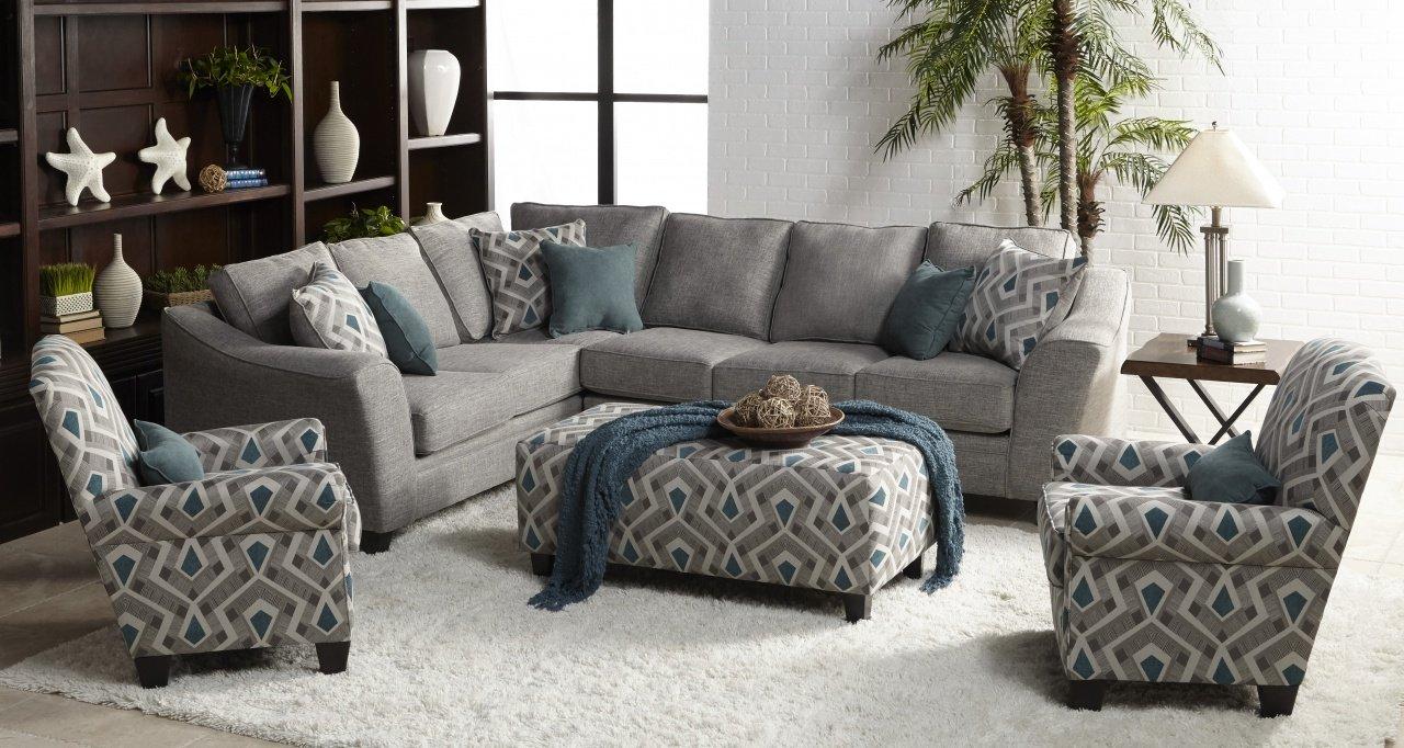1015 2 piece Sectional in Linen Grey Quartz  $989