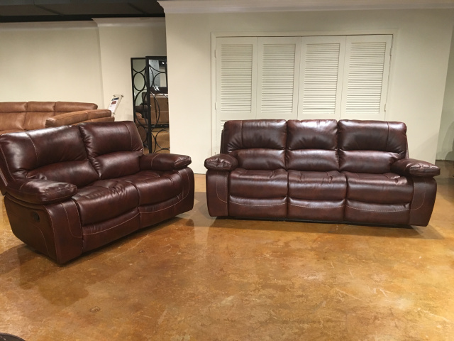 1010 Motion Sofa and Motion Loveseat in Banner Mahogany $1459