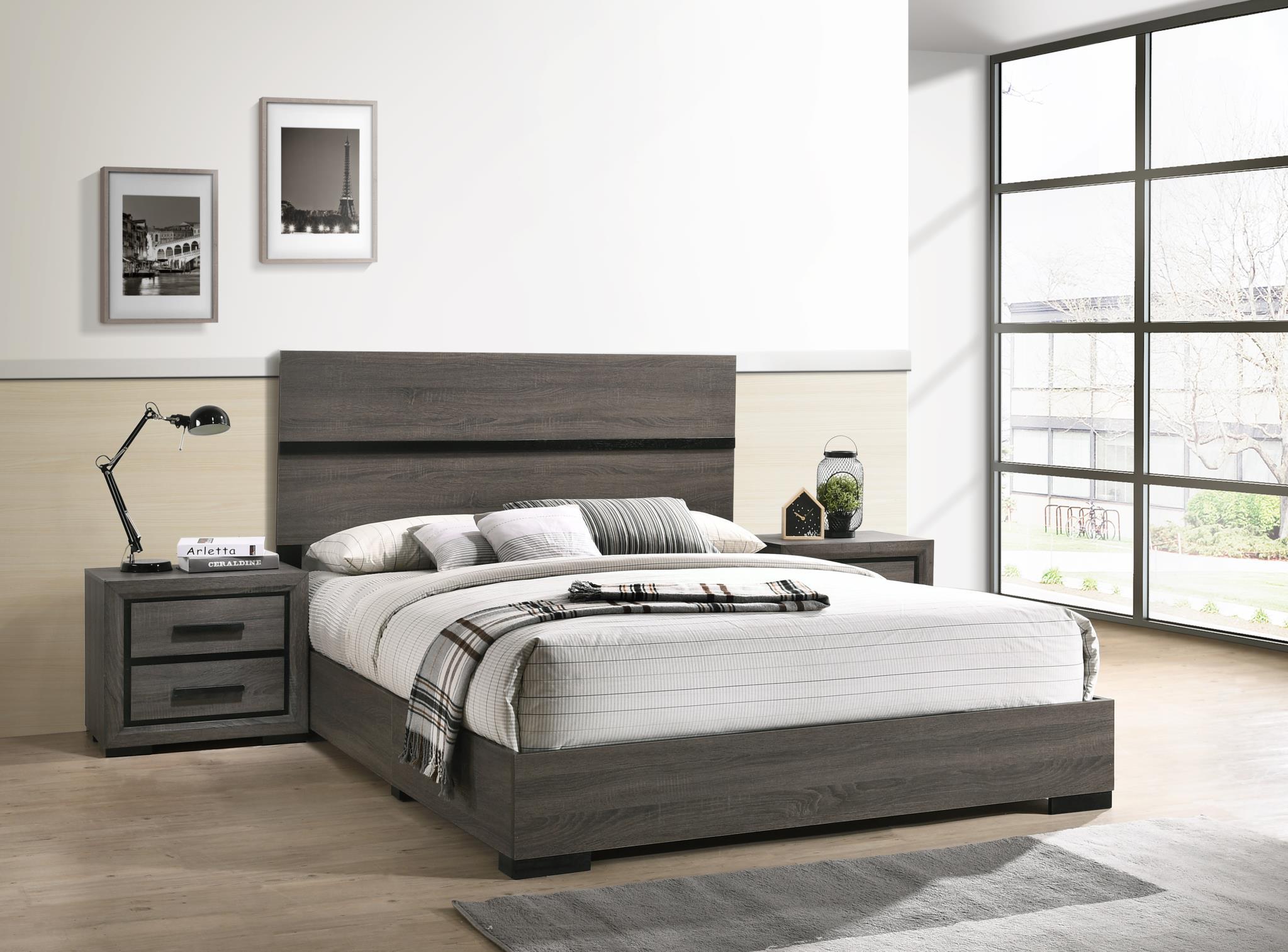 1885 Oakdale Gray Bed in a Box - Full $325
