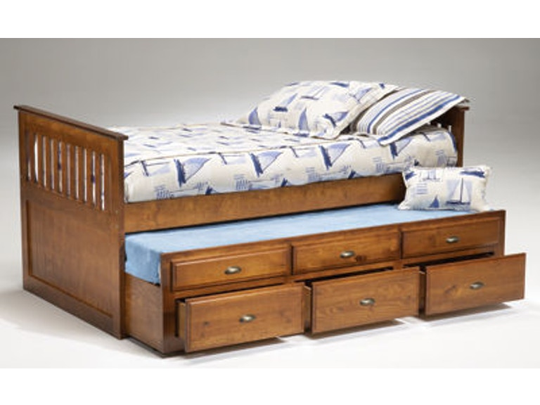 3650 Logan Twin Captain's Bed with Trundle & Drawers $369.99