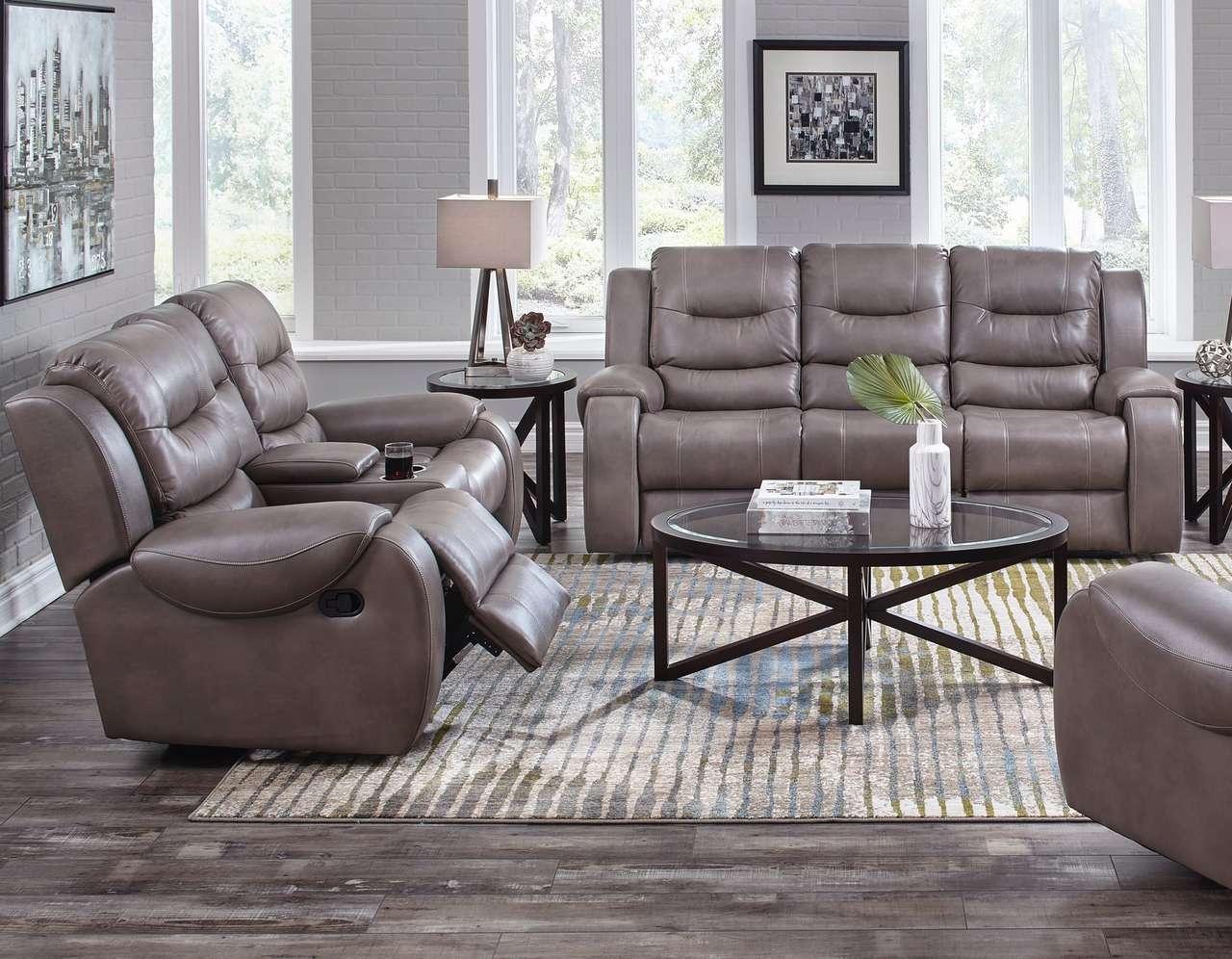 71407 Motion Sofa, Loveseat: Jamestown Smoke $1295