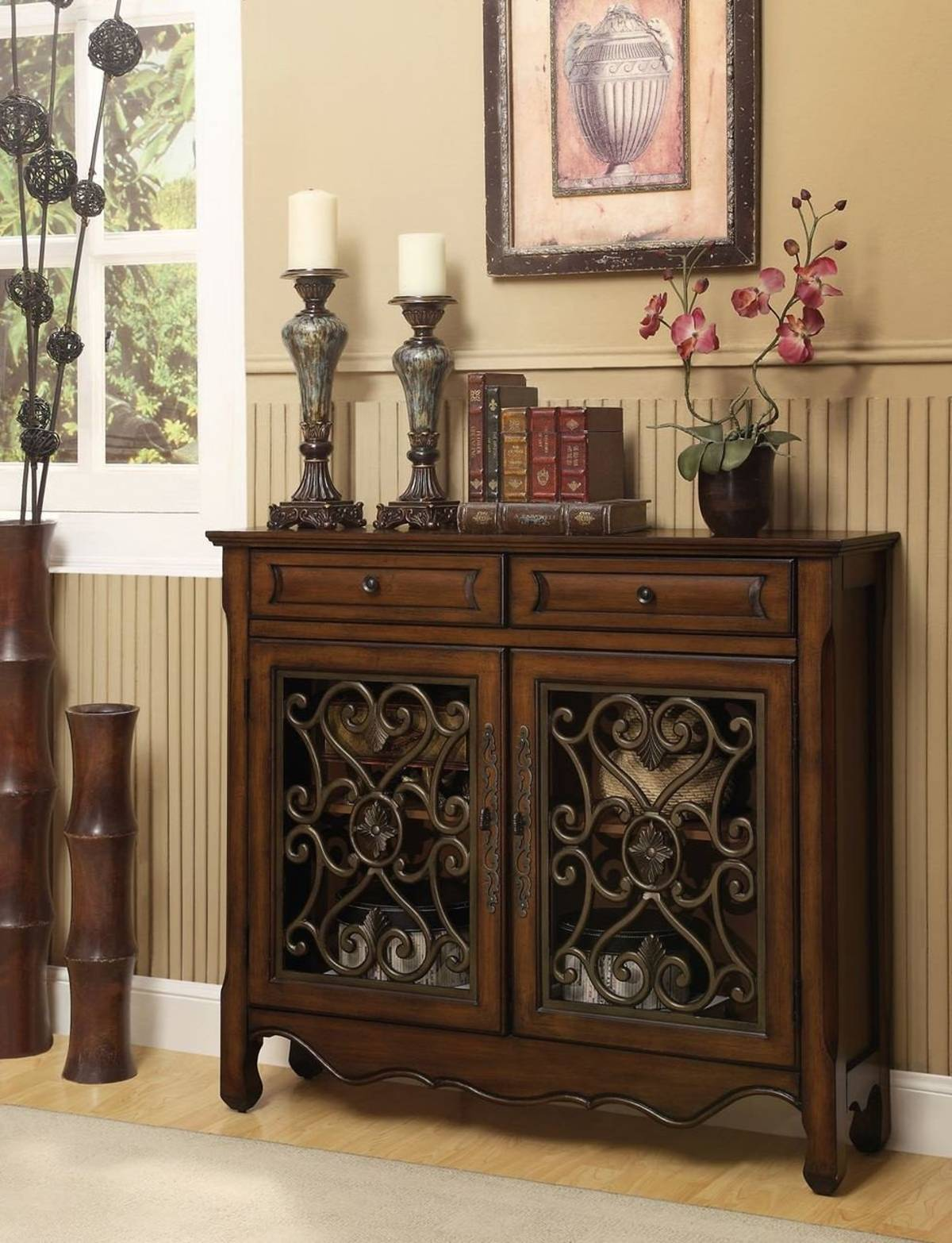 56416 Cupboard Hollin Brown & Bronze Metal Cupboard $305